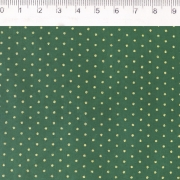 FERNANDO MALUHY - POÁ FUNDO VERDE COM DOURADO - 25cm X 150cm - Tecido Tricoline