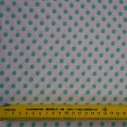 FERNANDO MALUHY - POÁ VERDE FUNDO BRANCO - 25cm X 150cm - Tecido Tricoline Páscoa