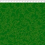 FERNANDO MALUHY - SWIRL FUNDO VERDE - 25cm X 150cm - Tecido Tricoline