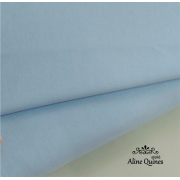 FERNANDO MALUHY - Tecido Azul Bebê Liso - 25cm X 150cm - Tricoline