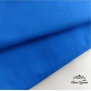 FERNANDO MALUHY - Tecido Azul Royal Liso - 25cm X 150cm - Tricoline