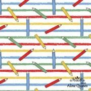 FUXICOS E FRICOTES - LÁPIS DE COR - 25cm X 150cm - Tecido Tricoline