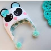 Gorro Panda - 1 a 8 anos