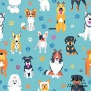 RENATA BLANCO - DOGS - CACHORRO - Digital - Tecido Tricoline