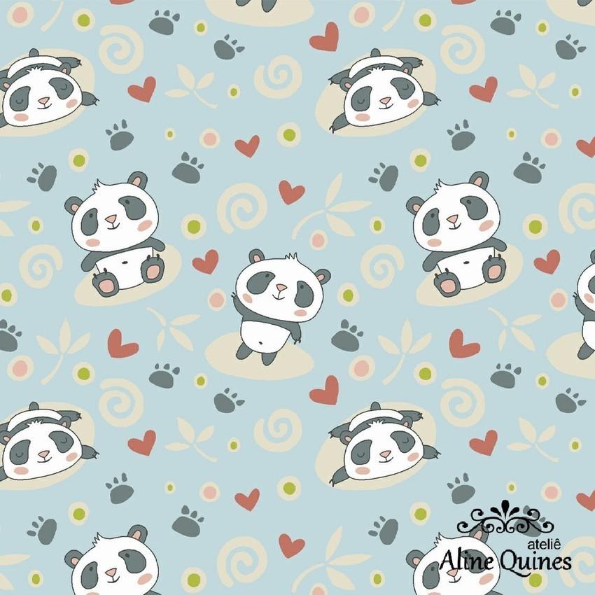 FABRICART - PANDAS - Urso Panda - 25cm X 150cm - Tecido Tricoline