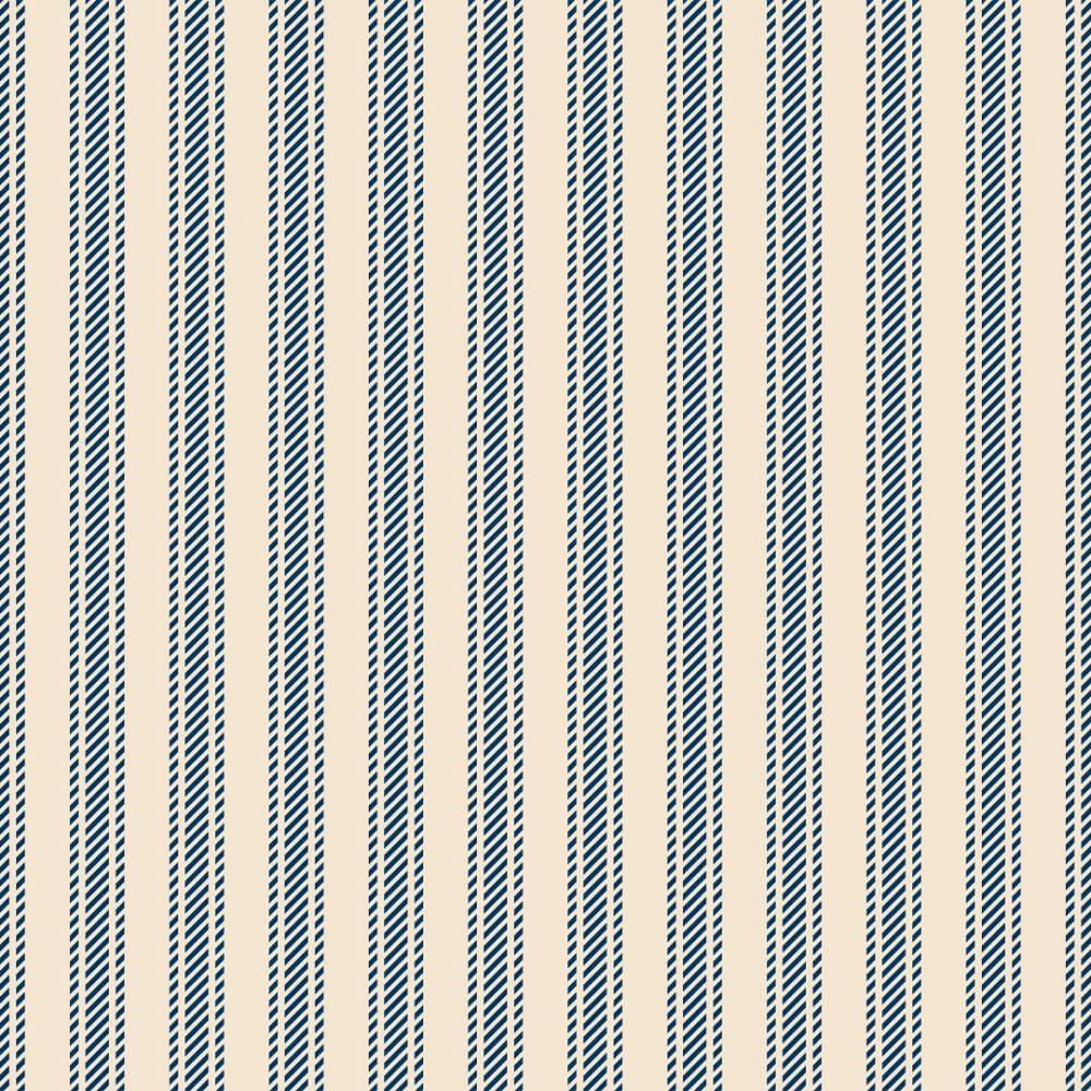 FABRICART - Textura Listrada Azul Antigo - Basics Country - 25cm X 150cm - Tecido Tricoline