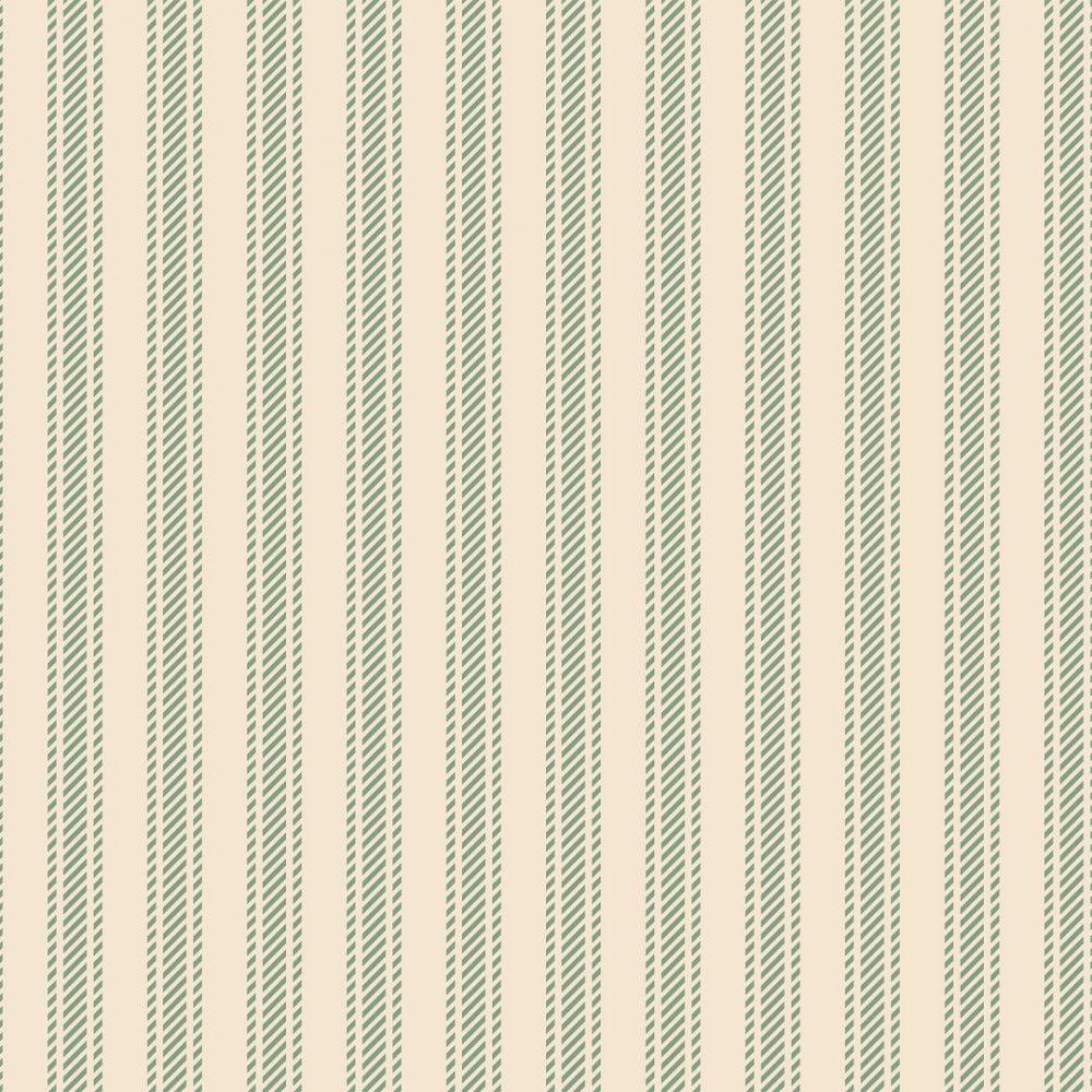 FABRICART - Textura Listrada Verde Chá - Basics Country - 25cm X 150cm - Tecido Tricoline