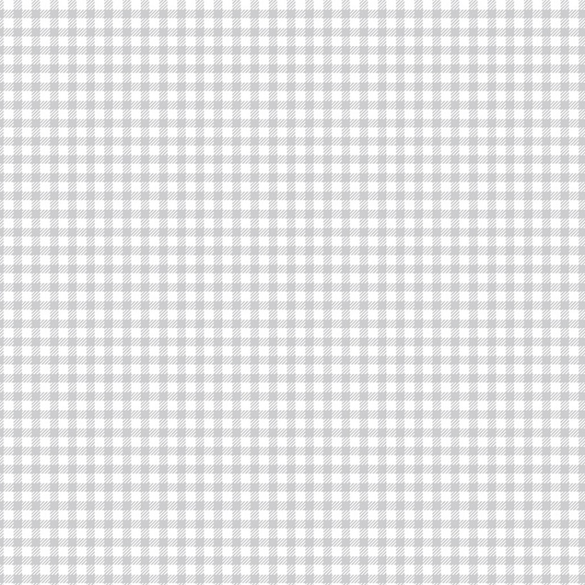 FABRICART - XADREZ CINZA CANDY - 25cm X 150cm - Tecido Tricoline