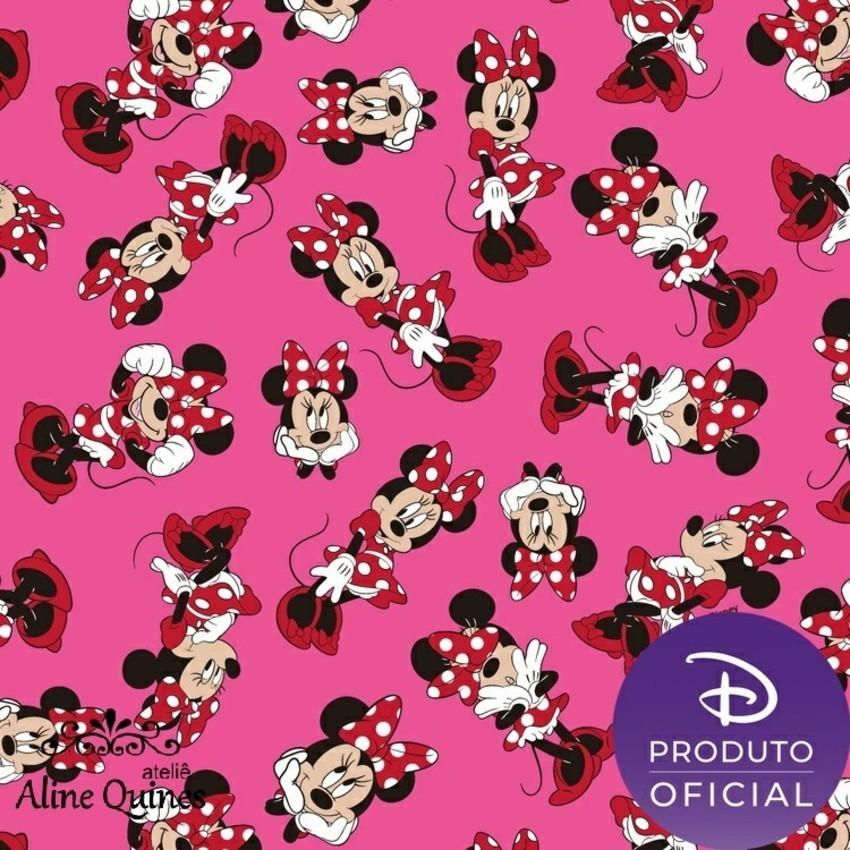 FERNANDO MALUHY - Coleção Disney MINNIE MOUSE - 25cm X 150cm - Tecido Tricoline