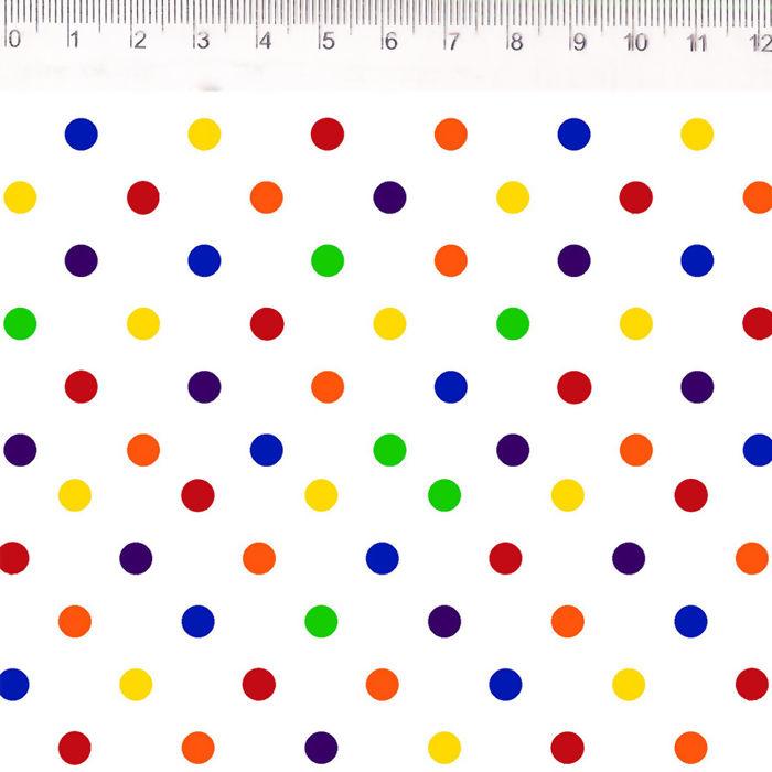 FERNANDO MALUHY - Confete Colorido Coleção Joy - 25cmX150cm - Tecido Tricoline