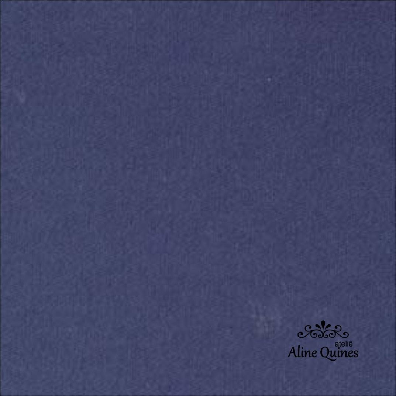 FERNANDO MALUHY - Tecido Azul Marinho Liso - 25cm X 150cm - Tricoline