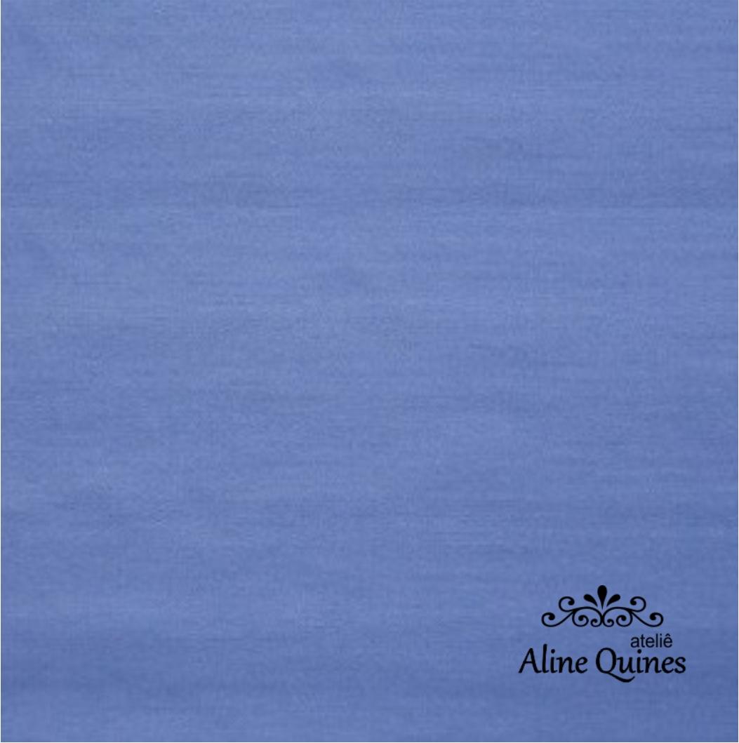 FERNANDO MALUHY - Tecido Azul Médio Liso - 25cm X 150cm - Tricoline