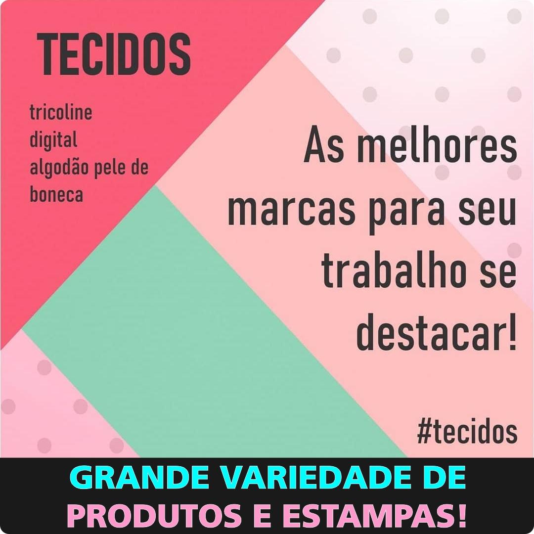 FUXICOS E FRICOTES - PAINEL COSTURA - DIGITAL - 25cm X 150cm - Tecido Tricoline