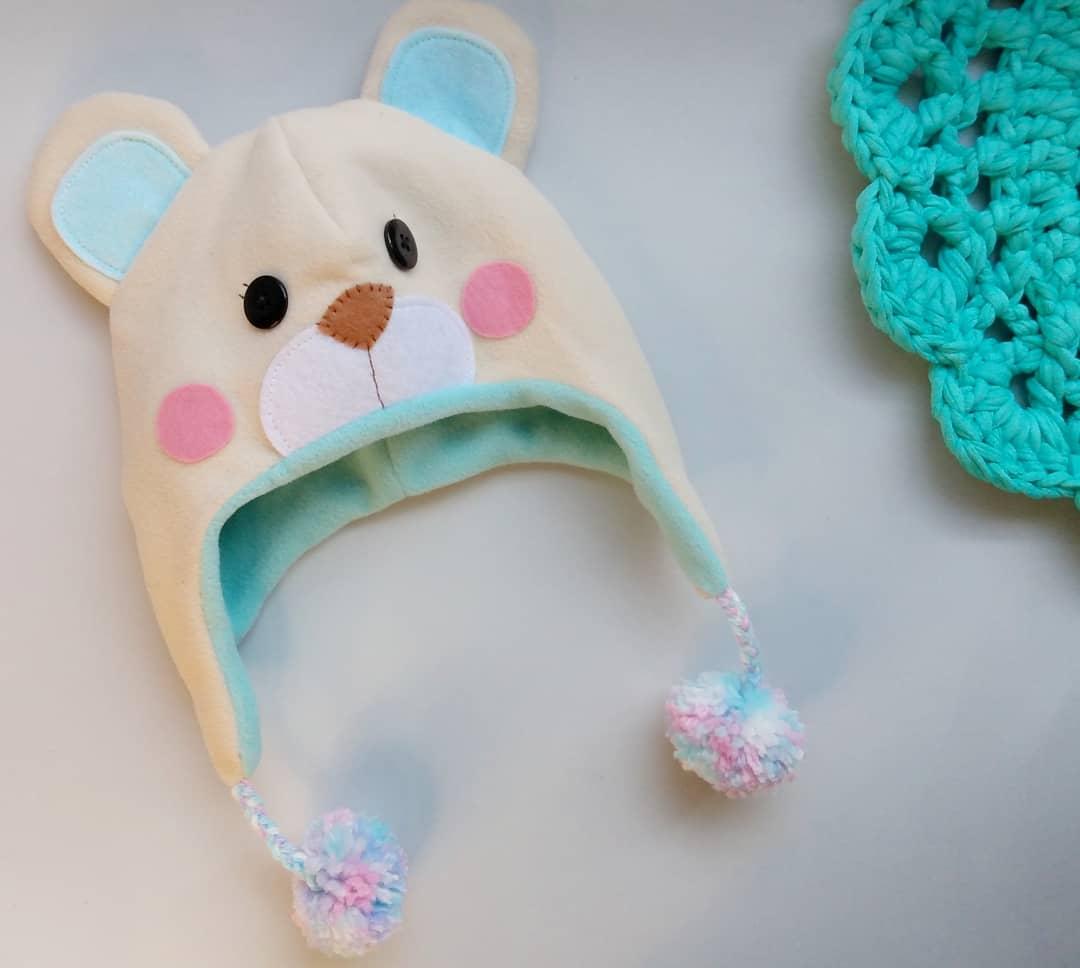 Gorro Urso - 1 a 8 anos