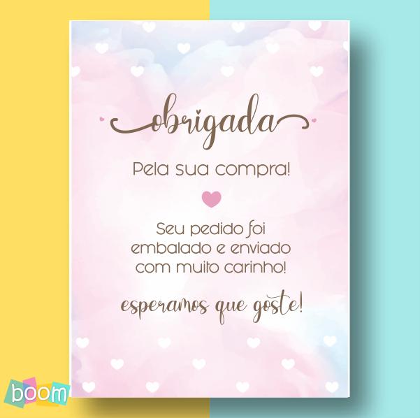 Cartão de Agradecimento - CÓD CA 01