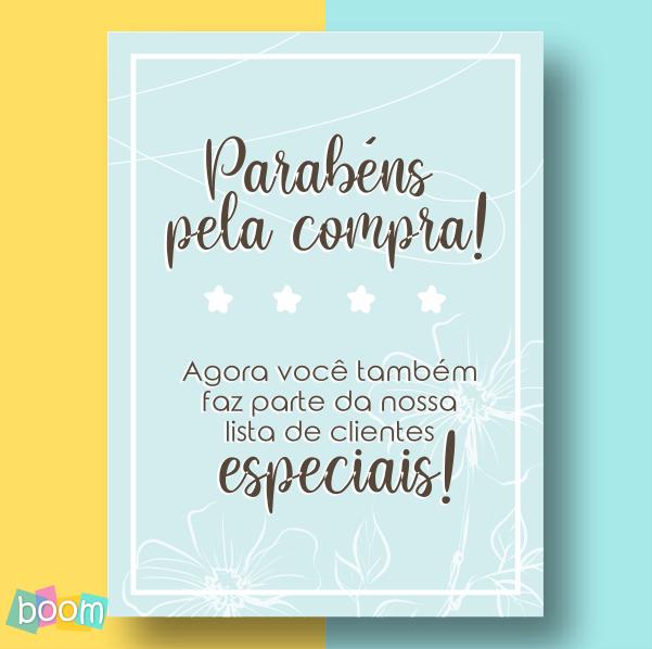 Cartão de Agradecimento - CÓD CA 02