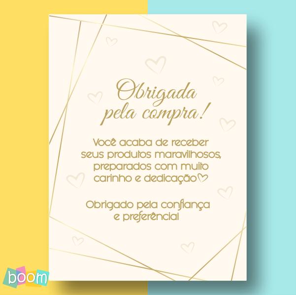 Cartão de Agradecimento - CÓD CA 03