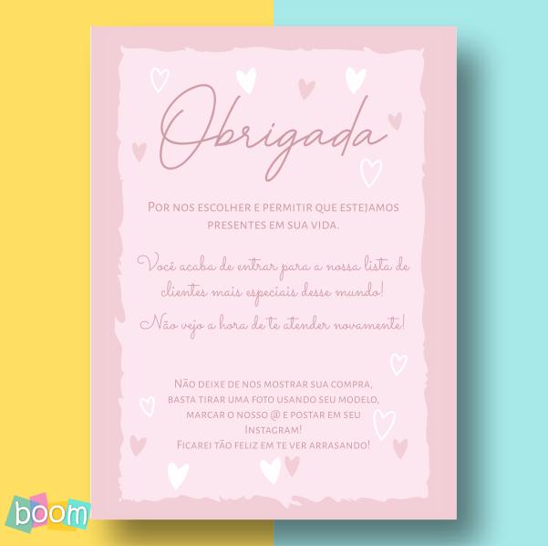 Cartão de Agradecimento - CÓD CA 07