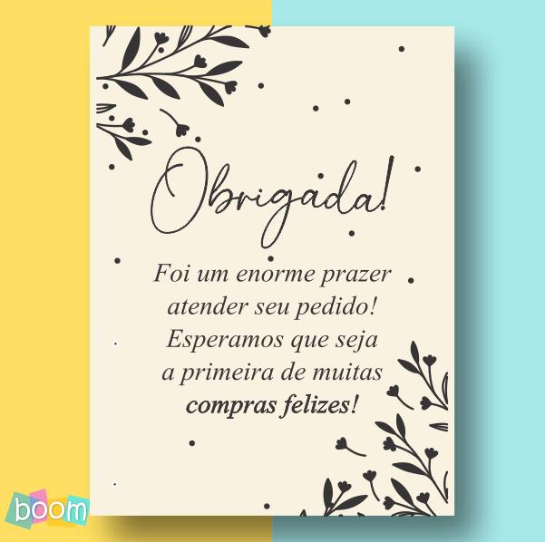 Cartão de Agradecimento - CÓD CA 09