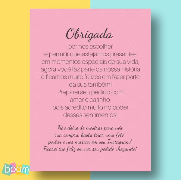 Cartão de Agradecimento - CÓD CA 10