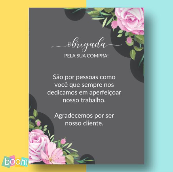 Cartão de Agradecimento - CÓD CA 201