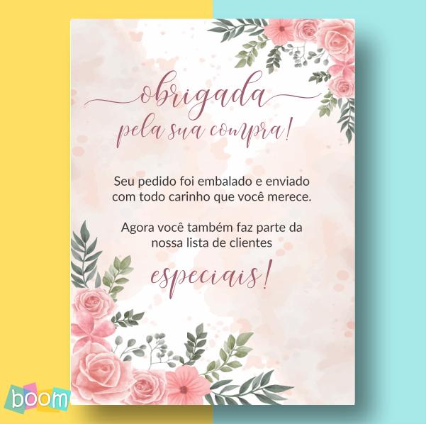 Cartão de Agradecimento - CÓD CA 203