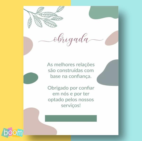 Cartão de Agradecimento - CÓD CA 204