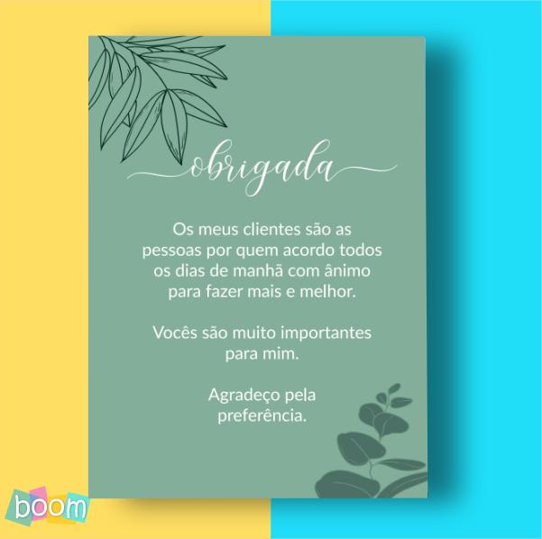 Cartão de Agradecimento - CÓD CA 206