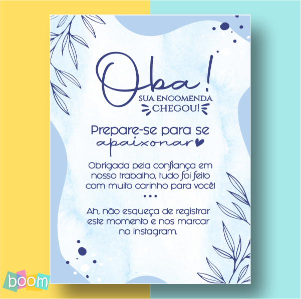 Cartão de Agradecimento - CÓD CA 301