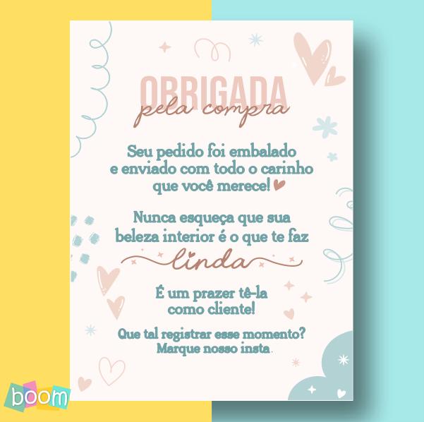 Cartão de Agradecimento - CÓD CA 303