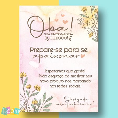 Cartão de Agradecimento - CÓD CA 306