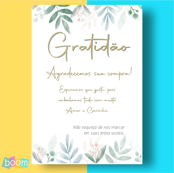 Cartão de Agradecimento - CÓD CA 307