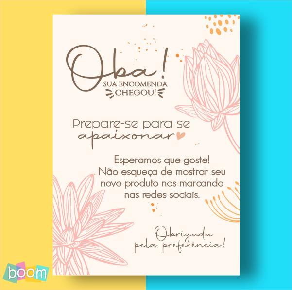 Cartão de Agradecimento - CÓD CA 308