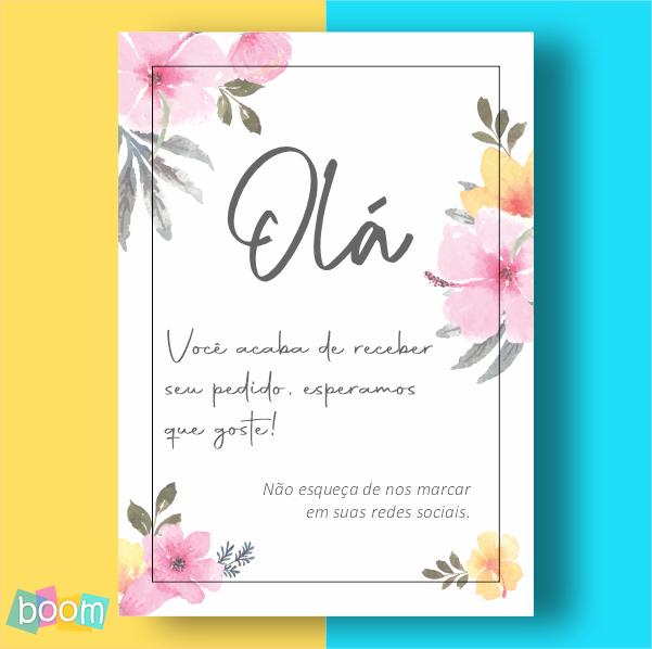 Cartão de Agradecimento - CÓD CA 309