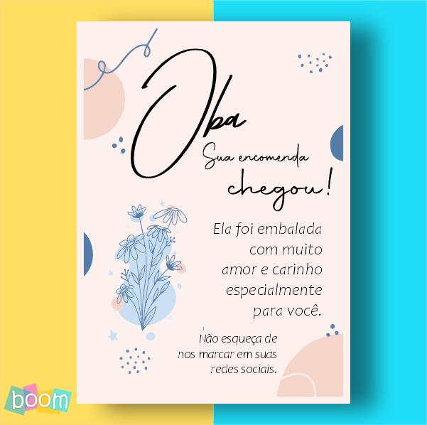 Cartão de Agradecimento - CÓD CA 310