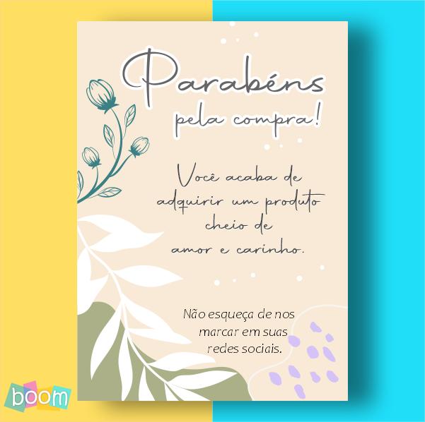 Cartão de Agradecimento - CÓD CA 311