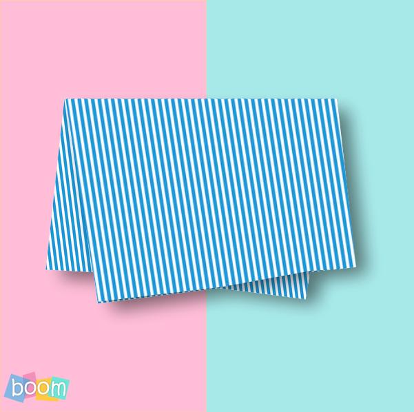 Papel de seda 48x60cm listras azul