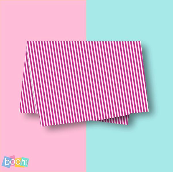 Papel de seda 48x60cm listras rosa