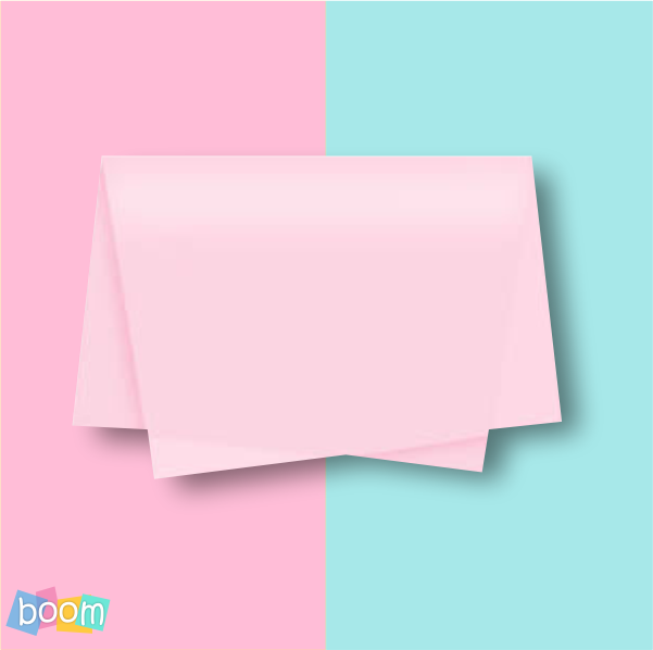Papel de seda 48x60cm rosa claro