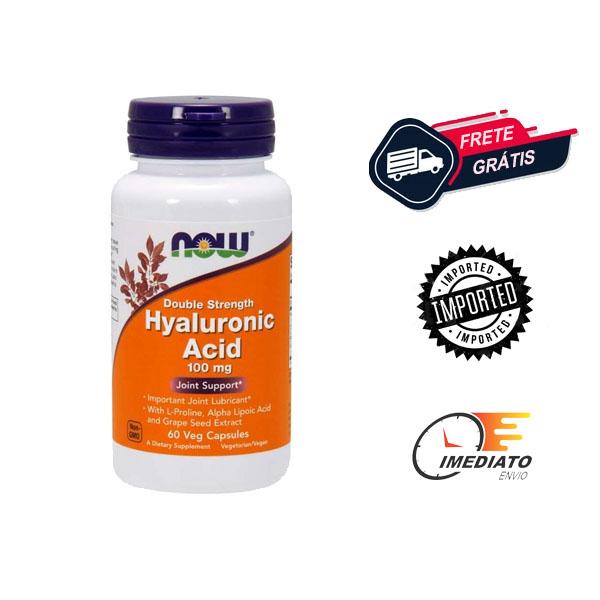 Ácido Hialurônico - Now Foods (100 mg - 60 Cápsulas)