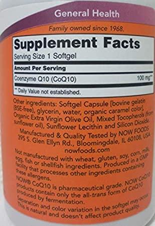 Coenzima Q10 - Now Foods (60/150 mg -  60/150 Softgel)