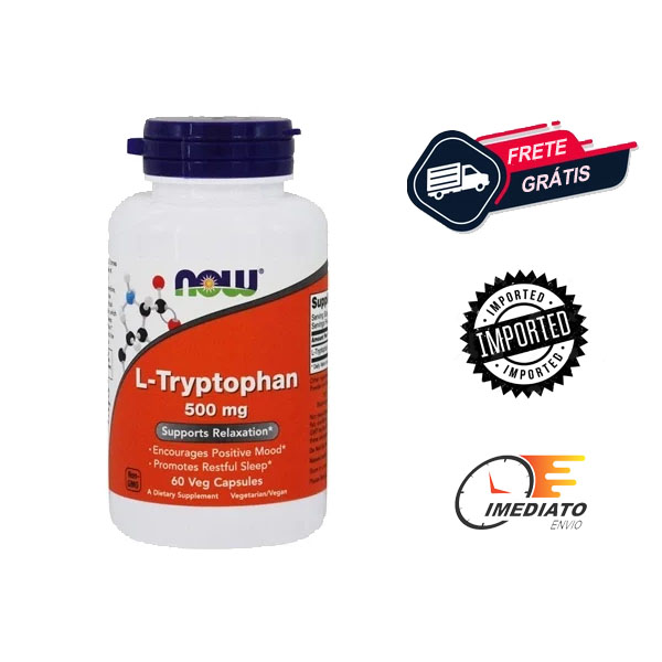 L Triptofano - Now Foods ( 60 Cápsulas - 500 mg ) | Para que serve, benefícios, comprar