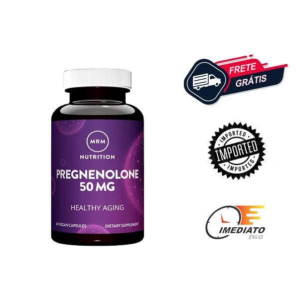 Pregnenolona - MRM (60 Cápsulas - 50 mg ) | Para que serve, beneficios, comprar