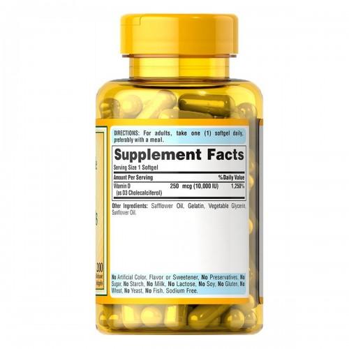 Vitamina D3 10.000 UI - Puritans Pride | Para que serve, beneficios, comprar