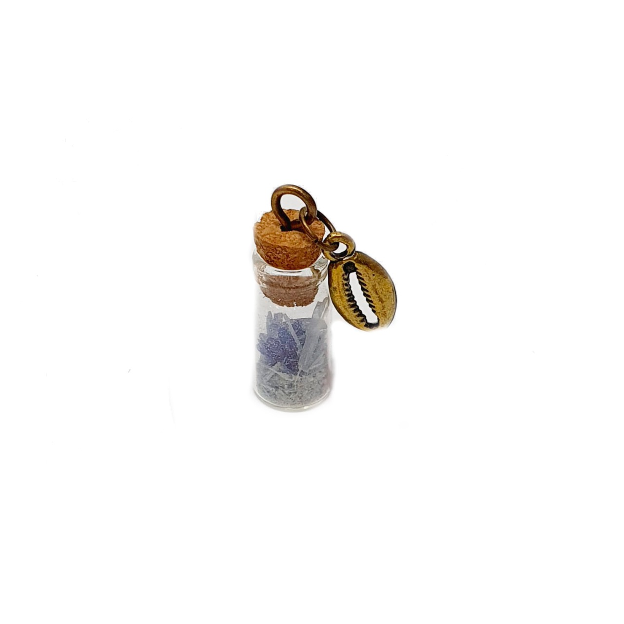 Amuleto de Pedra Natural Cianita Azul