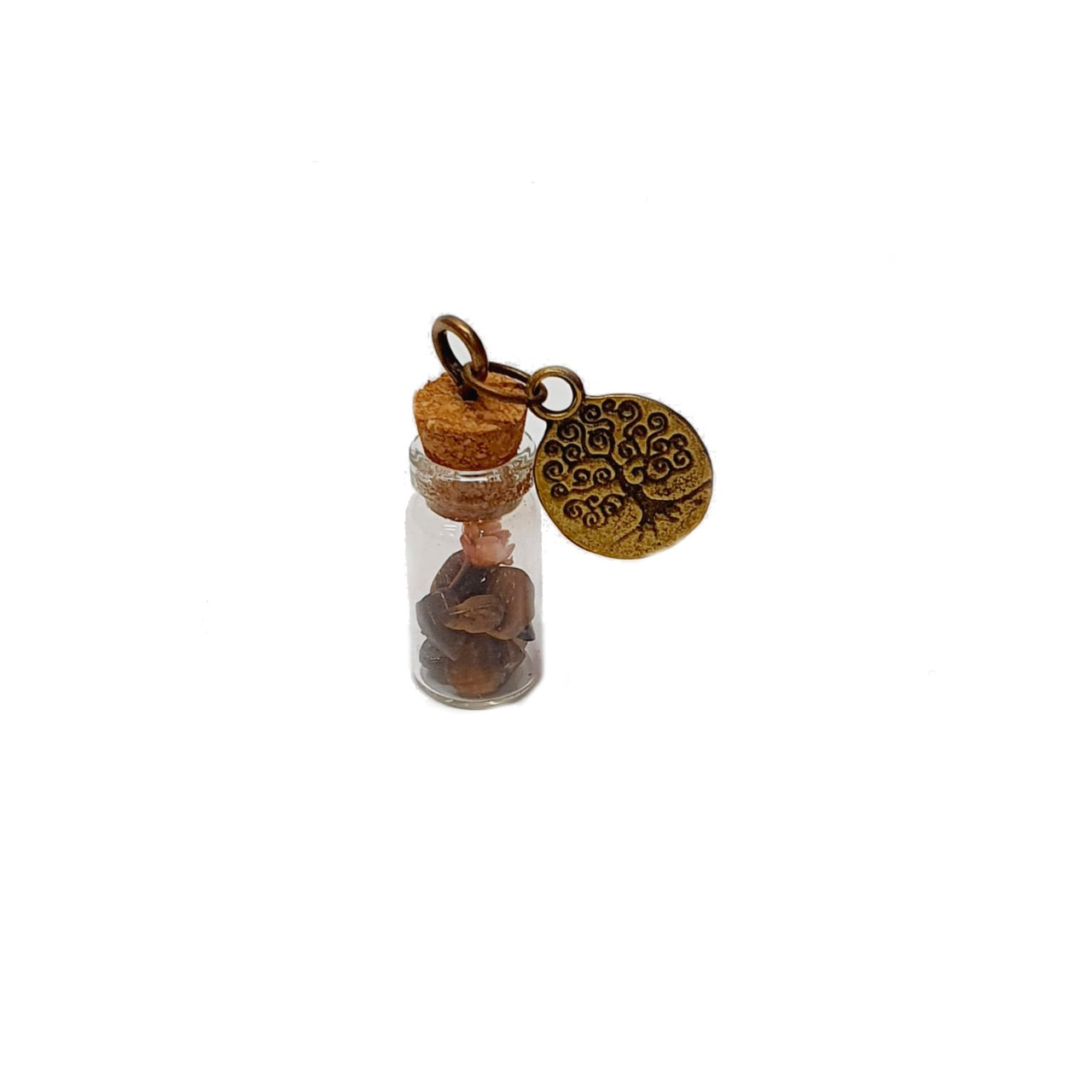 Amuleto de Pedra Natural Olho de Tigre