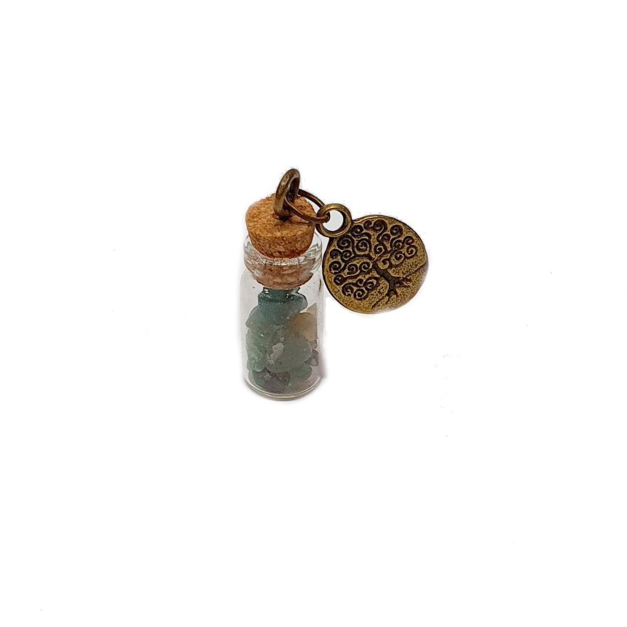 Amuleto de Pedra Natural Quartzo Verde