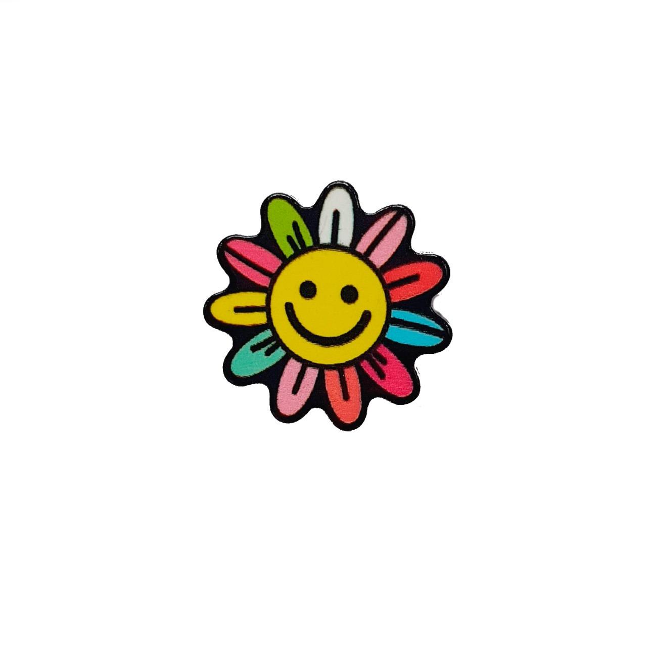 Aplique de Acrílico Florzinha Smile