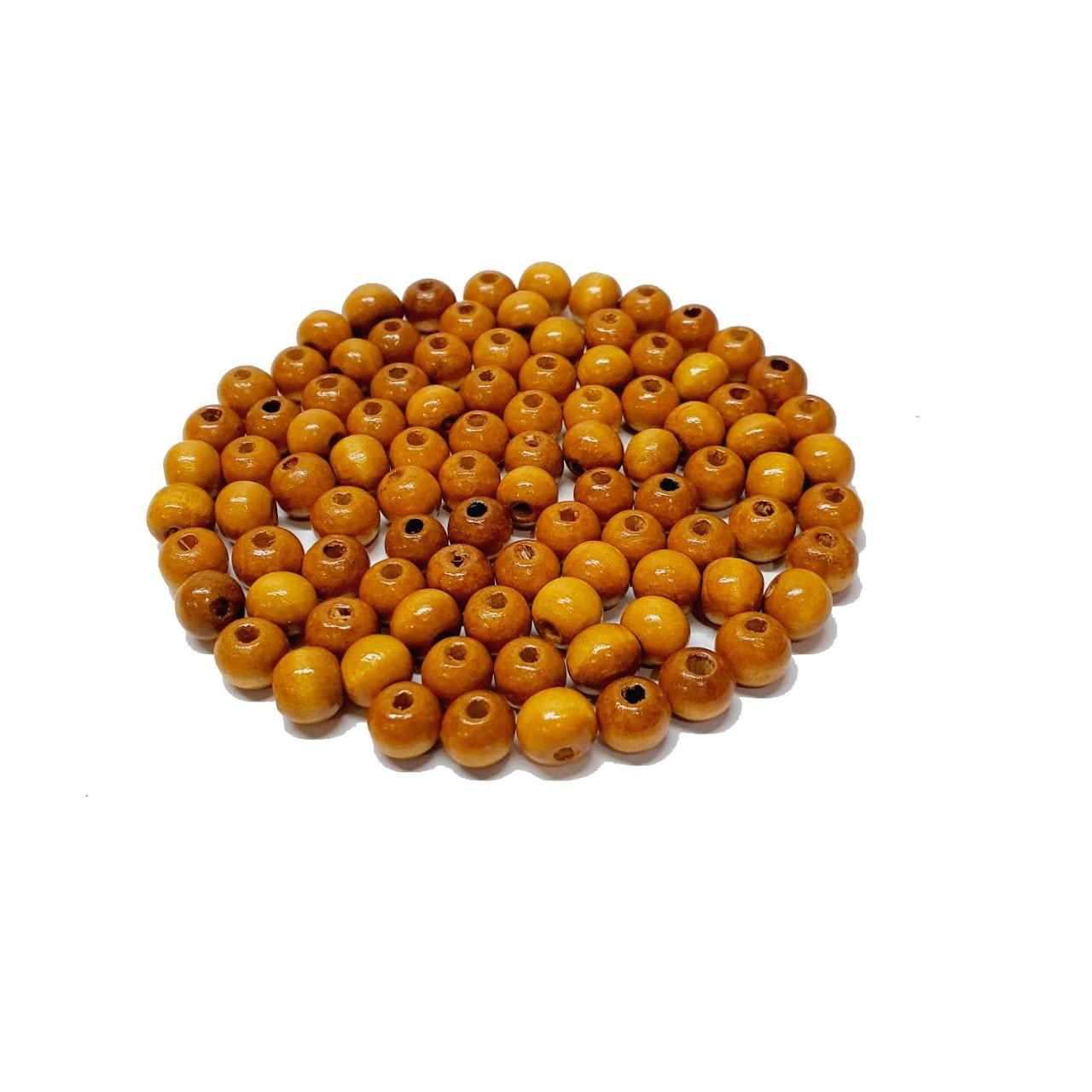 Bola de Madeira Caramelo