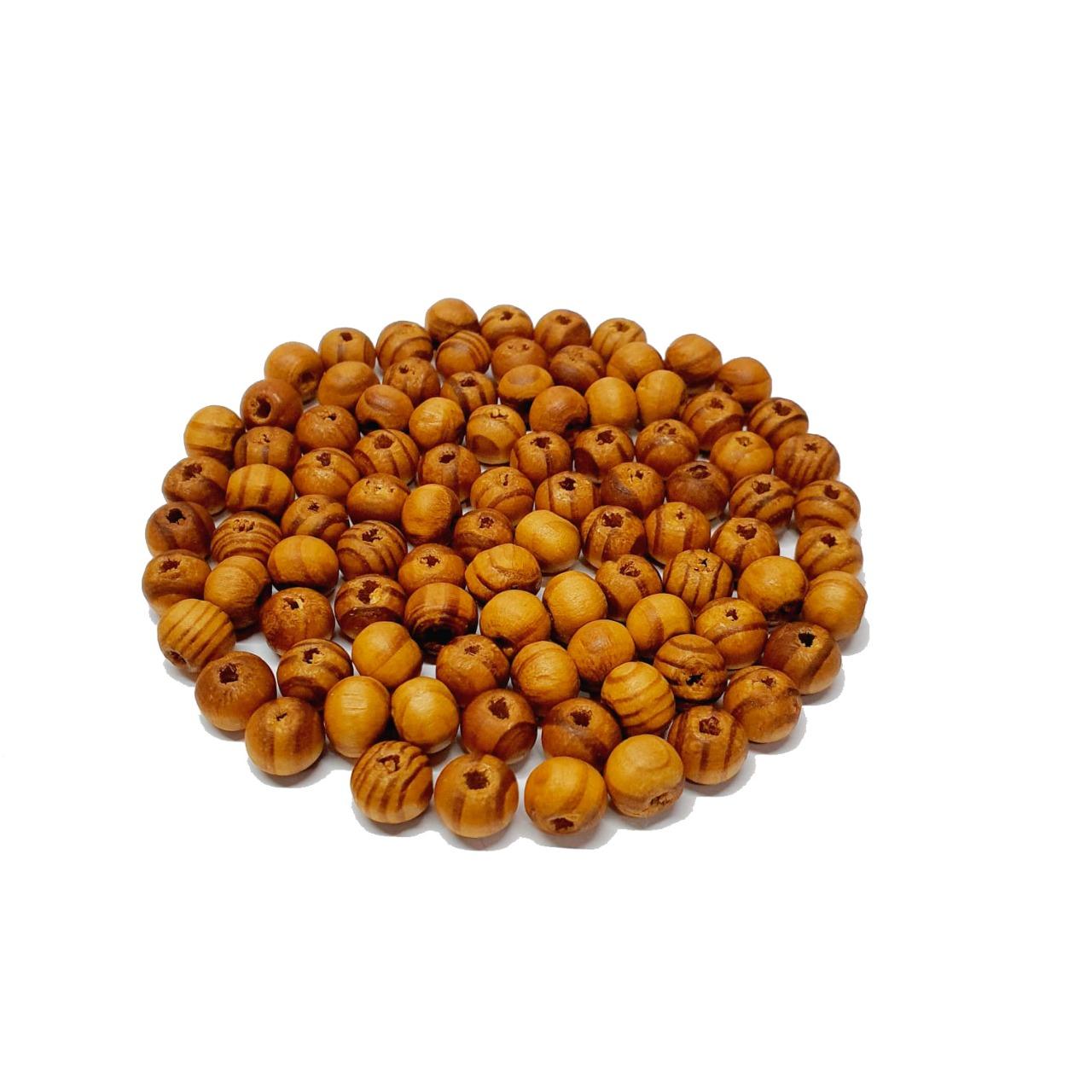 Bola de Madeira Caramelo Mesclada